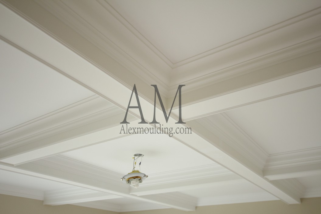 beamed ceilings with molding
