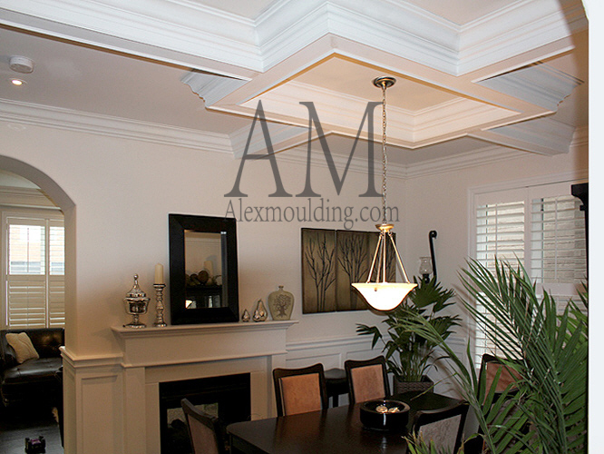 classic stretch coffered ceiling