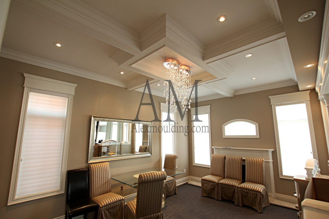 box patterned coffered ceiling