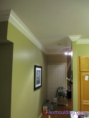 Stained Wood Crown Moulding Installations Toronto