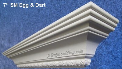 7 inch Egg & Dart  fancy crown molding