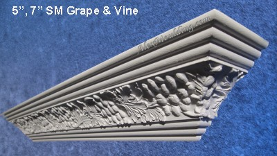 Grape Vine dentil crown molding