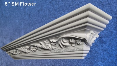 5 inch Flower dentil profile