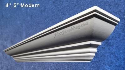 5 inch Modern crown moulding Profile