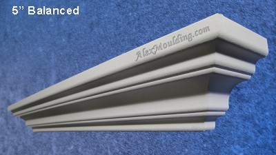 5 inch Smooth Symmetrical crown moulding