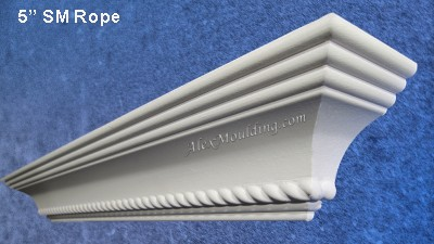 5 inch Rope crown moulding