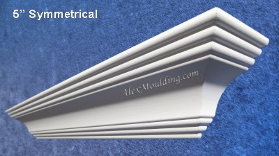 5 inch Symmetrical crown molding