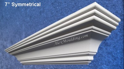 7 inch Symmetrical crown molding