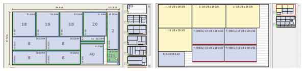 cut-list drawing for kitchencabinets, wall units