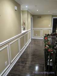 Chair rail wall trim appliques