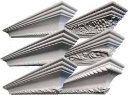 Embossed Patterned crown mouldings