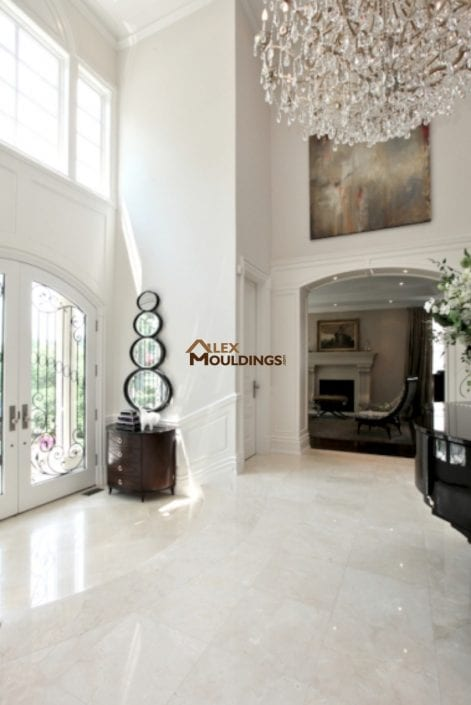 luxury wall paneling entryway