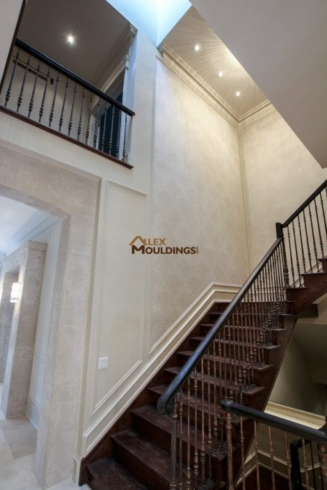 trims on the stairway