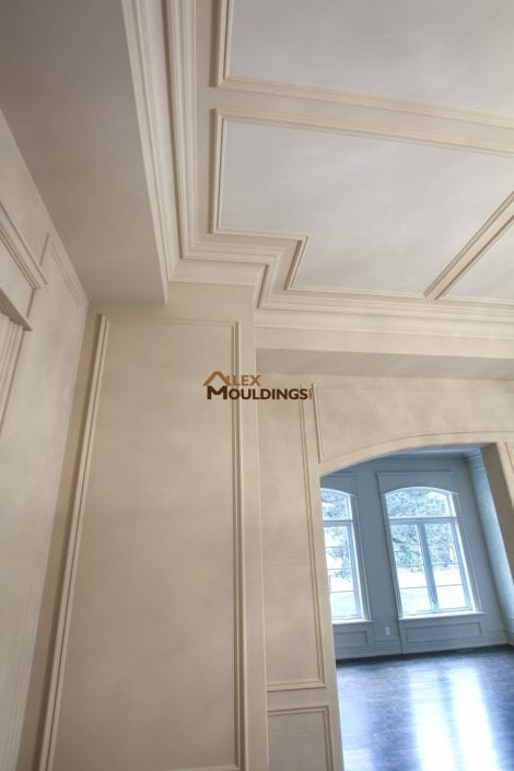 ceiling designed with applied trim frames