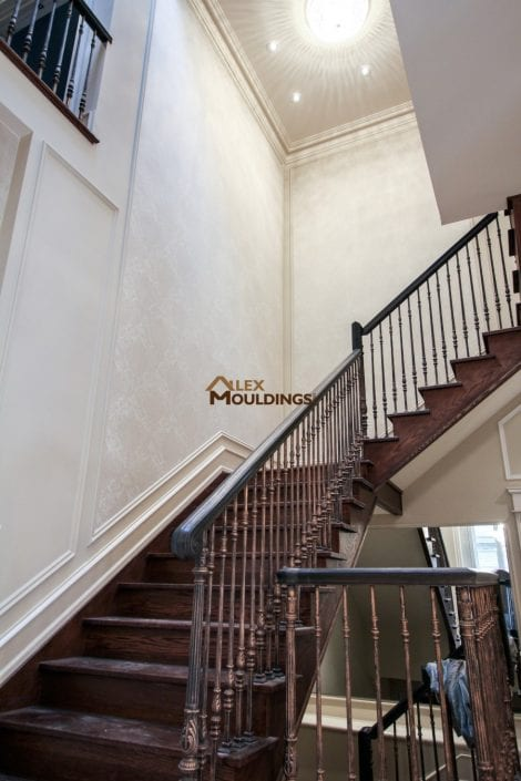 stairs up wall trims
