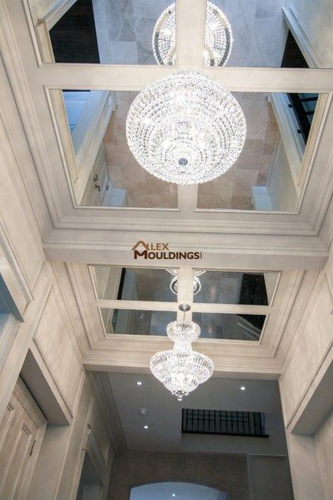 hallway designed ceiling