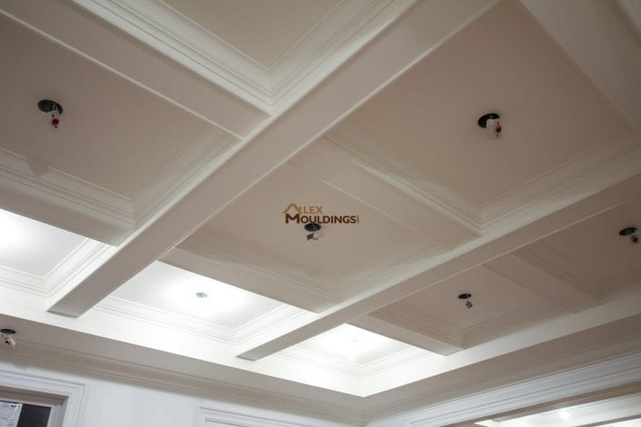 Ceiling beams and mouldings