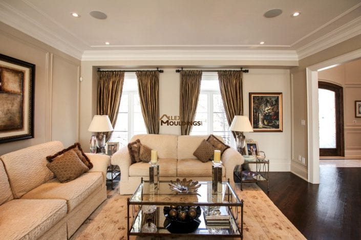 Wall frames with crown mouldings