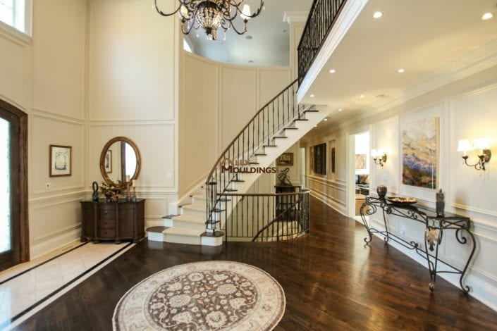 Curvy stairway wall applications