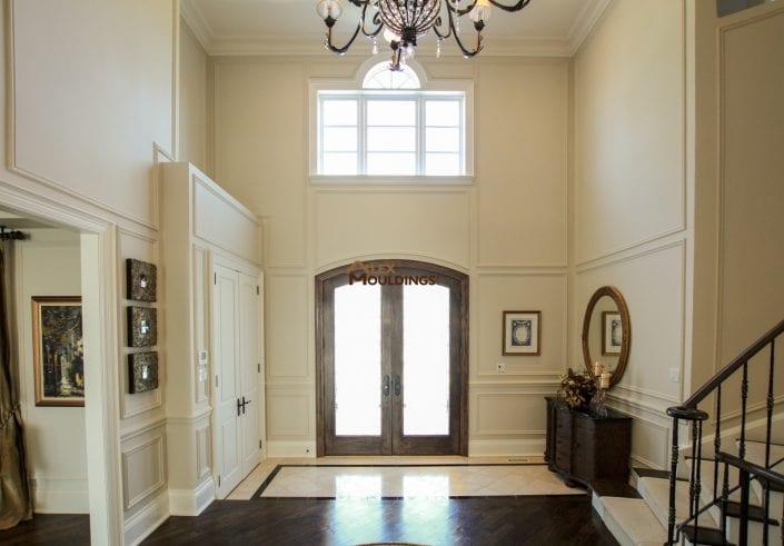 Hallway full wall paneling