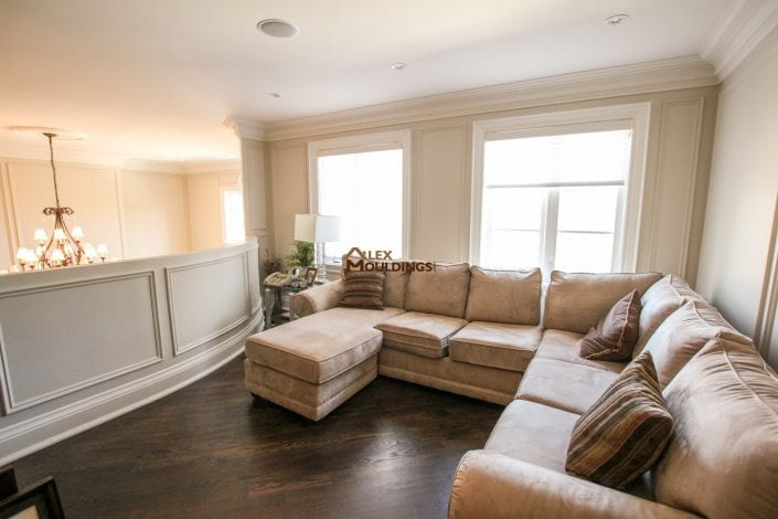 Living room designed appliques