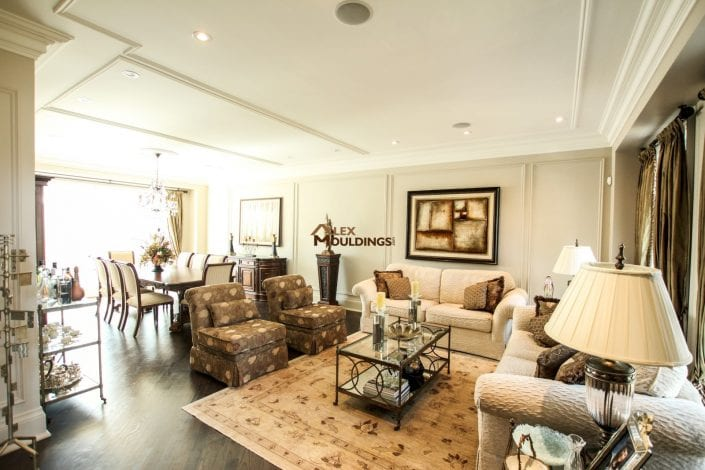 living room wall and ceiling trims decoration