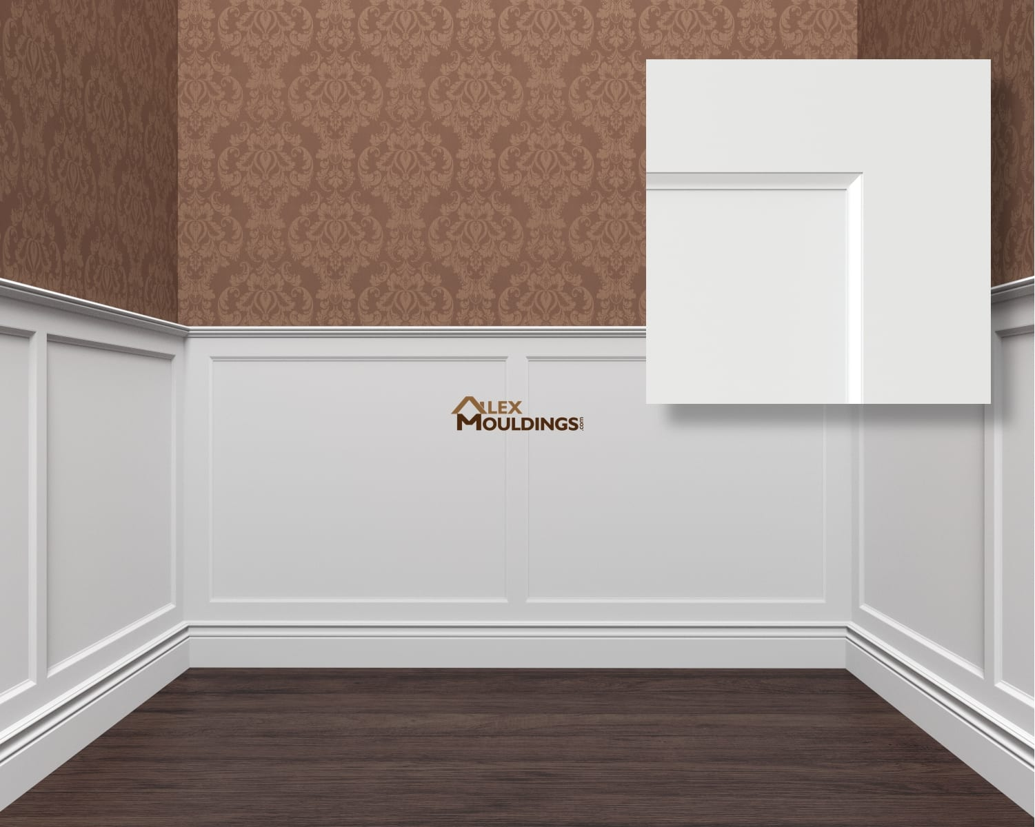 Flat panel step wainscoting