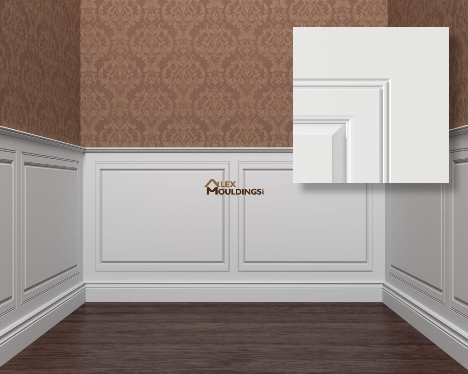 Raised panel 1 framed 2 wainscoting